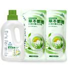 《台塑生醫》Dr's Formula草本敏護-抗菌防霉洗衣精1瓶+2包